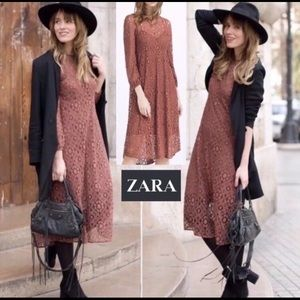 Zara | Lace Maxi in Terracotta
